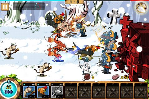 Descarga gratuita de 9 Heroes defence: Zombie invasion para iPhone, iPad y iPod.
