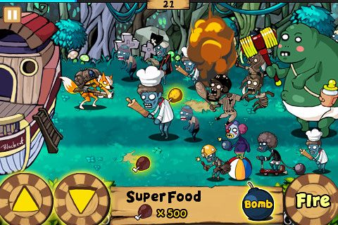Écrans du jeu 9 Heroes defence: Zombie invasion pour iPhone, iPad ou iPod.