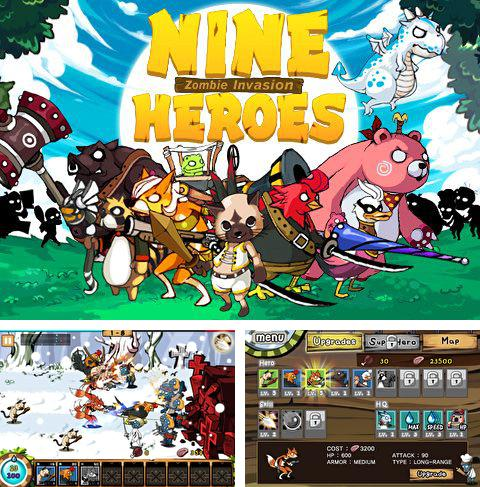 In addition to the game Angry birds: On Finn ice for iPhone, iPad or iPod, you can also download 9 Heroes defence: Zombie invasion for free.