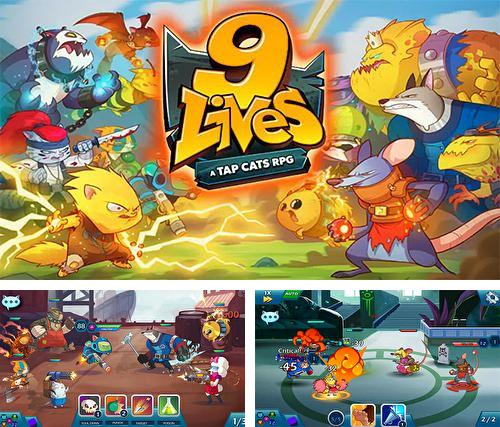 除了 iPhone、iPad 或 iPod 游戏,您还可以免费下载9 lives: A tap cats RPG, 。