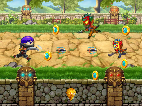iPhone、iPad および iPod 用のA Clash of Diamond Warrior: Temple Adventure Pro Gameの無料ダウンロード。