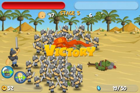 Écrans du jeu A little war pour iPhone, iPad ou iPod.