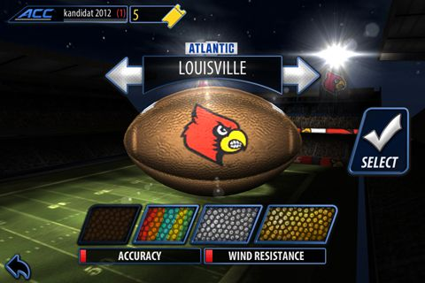 Capturas de pantalla del juego ACC football challenge 2014 para iPhone, iPad o iPod.