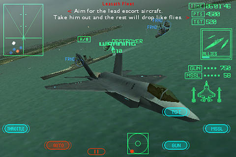 Screenshots vom Spiel Ace combat Xi: Skies of incursion für iPhone, iPad oder iPod.