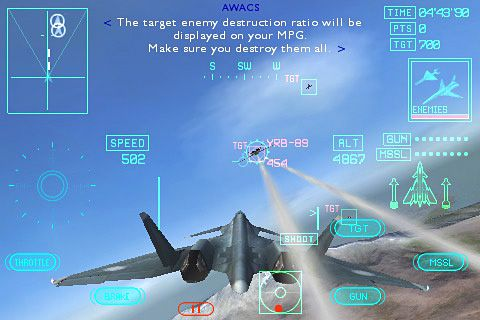 Capturas de pantalla del juego Ace combat Xi: Skies of incursion para iPhone, iPad o iPod.