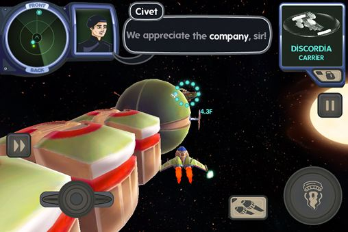Screenshots vom Spiel Ace Ferrara and the dino menace für iPhone, iPad oder iPod.