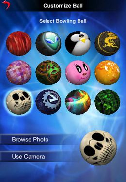 Screenshots do jogo Action Bowling para iPhone, iPad ou iPod.