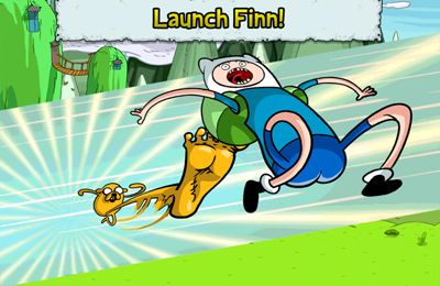 Capturas de pantalla del juego Adventure Time: Super Jumping Finn para iPhone, iPad o iPod.