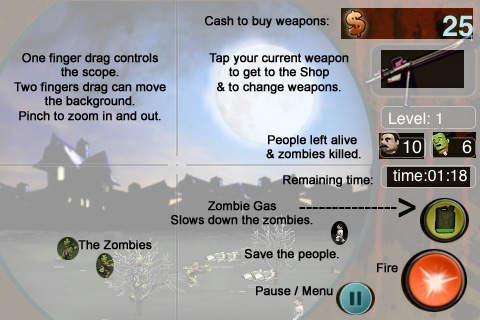 Download Adventures of the Zombie sniper iPhone free game.
