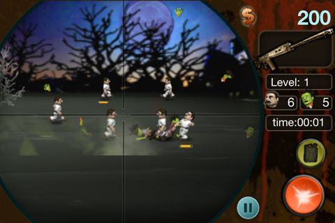 Screenshots do jogo Adventures of the Zombie sniper para iPhone, iPad ou iPod.