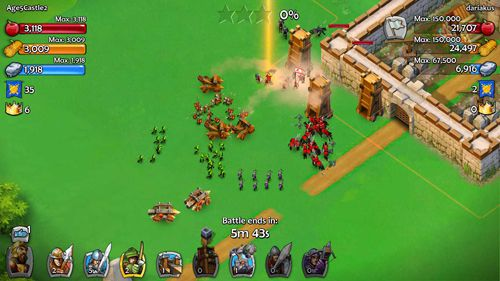 Геймплей Age of empires: Castle siege для Айпад.