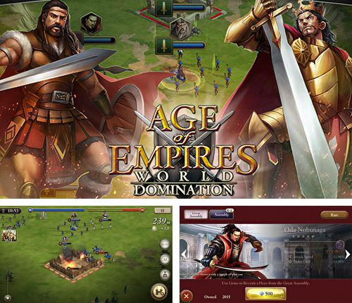 En plus du jeu La Construction de la Tour 3D pour iPhone, iPad ou iPod, vous pouvez aussi télécharger gratuitement Age des empires: Domination sur le monde, Age of empires: World domination.