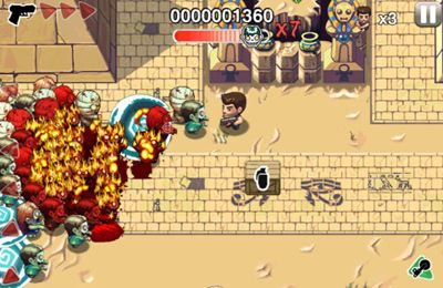 Écrans du jeu Age of Zombies Anniversary pour iPhone, iPad ou iPod.