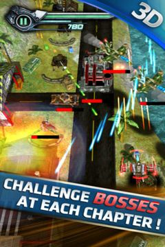 Écrans du jeu Air Attack HD 2 pour iPhone, iPad ou iPod.