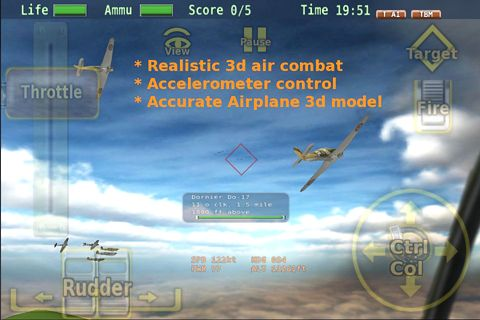 Écrans du jeu Air battle of Britain pour iPhone, iPad ou iPod.