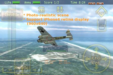 Screenshots of the Air battle of Britain game for iPhone, iPad or iPod.