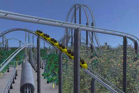 Screenshots of the Air coaster game for iPhone, iPad or iPod.