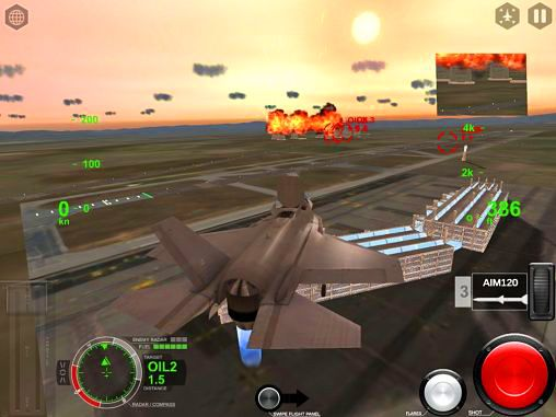 Kostenloser Download von Air fighters pro für iPhone, iPad und iPod.