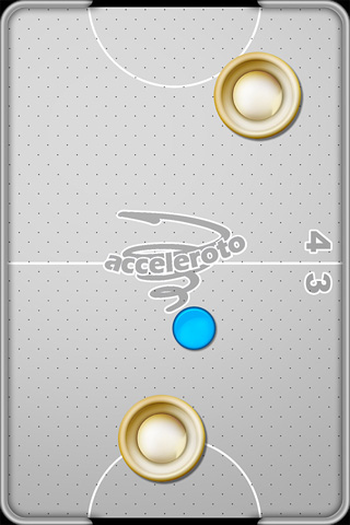 Écrans du jeu Air hockey pour iPhone, iPad ou iPod.