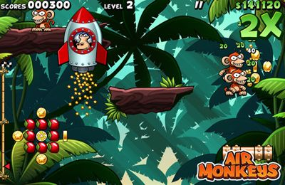 Screenshots of the Air Monkeys game for iPhone, iPad or iPod.