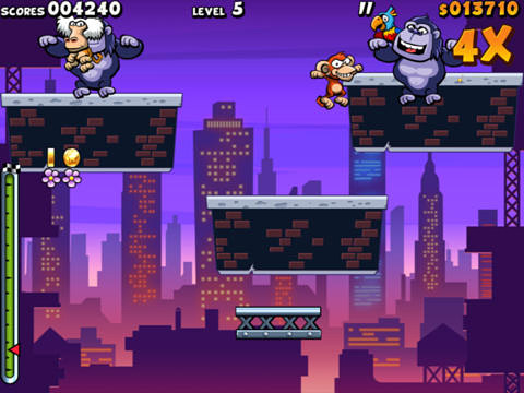 Écrans du jeu Air monkeys in New York pour iPhone, iPad ou iPod.