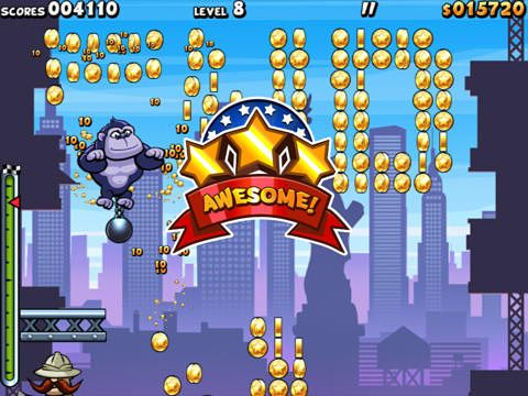 Capturas de pantalla del juego Air monkeys in New York para iPhone, iPad o iPod.