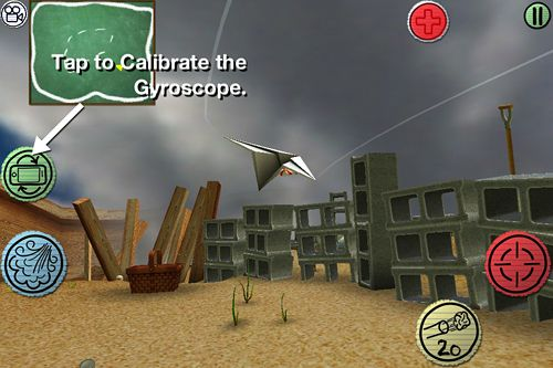 Screenshots of the Air wings game for iPhone, iPad or iPod.