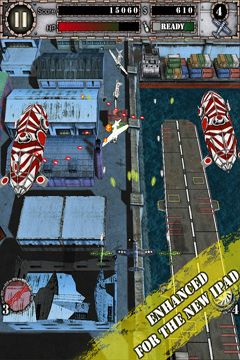 Screenshots of the AirAttack game for iPhone, iPad or iPod.