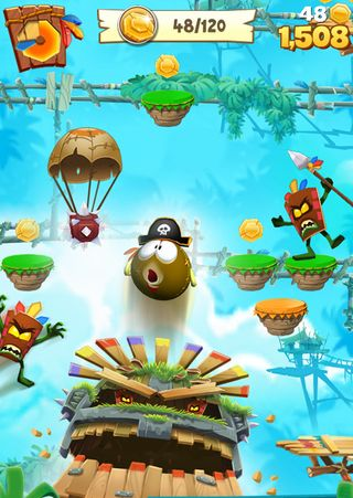 Capturas de pantalla del juego Airheads jump para iPhone, iPad o iPod.