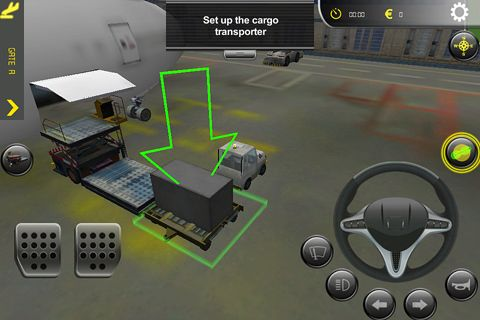 Screenshots of the Airport simulator game for iPhone, iPad or iPod.