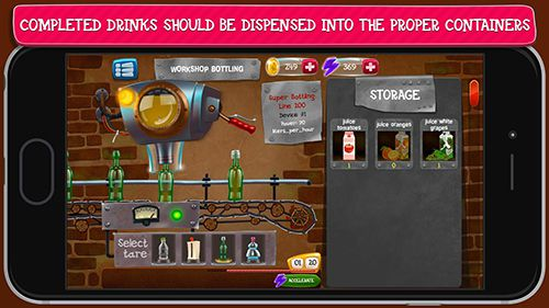 Screenshots of the Alcohol factory simulator game for iPhone, iPad or iPod.