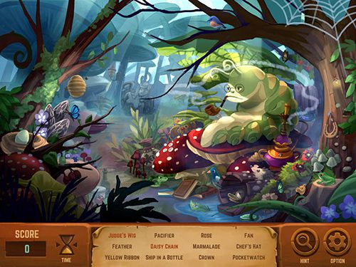 Écrans du jeu Alice in Wonderland pour iPhone, iPad ou iPod.