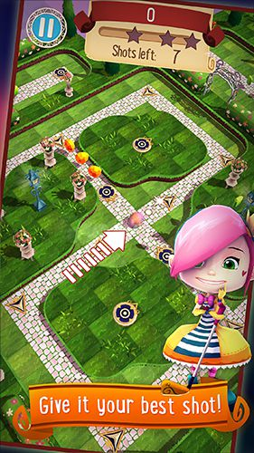 Kostenloser Download von Alice in Wonderland: Puzzle golf adventures für iPhone, iPad und iPod.