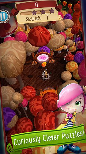 Screenshots vom Spiel Alice in Wonderland: Puzzle golf adventures für iPhone, iPad oder iPod.