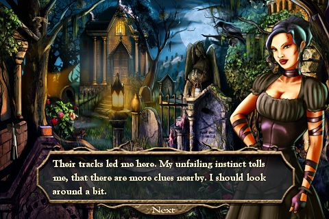 Screenshots of the Alicia Darkstone: The mysterious abduction. Deluxe game for iPhone, iPad or iPod.