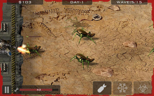 Download Alien bugs: Defender iPhone free game.