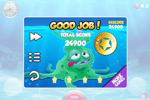 Écrans du jeu Alien: Fishtank frenzy pour iPhone, iPad ou iPod.