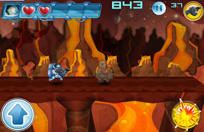 Screenshots vom Spiel Alien March für iPhone, iPad oder iPod.
