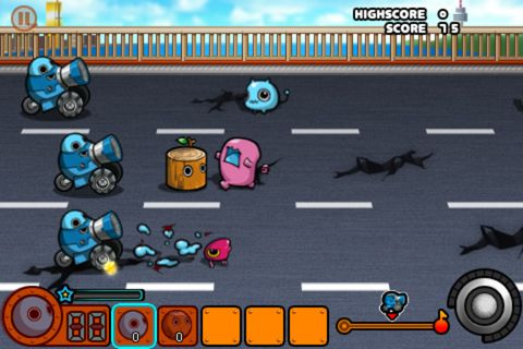 Capturas de pantalla del juego Alien raid para iPhone, iPad o iPod.