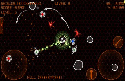 Screenshots vom Spiel Alien Space Retro für iPhone, iPad oder iPod.