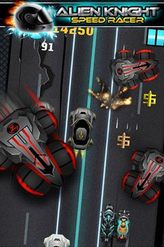 Download Alien vs Knight Speed Racer Pro - A Bike Race Through Clash City iPhone free game.
