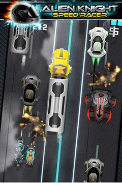 Screenshots of the Alien vs Knight Speed Racer Pro - A Bike Race Through Clash City game for iPhone, iPad or iPod.