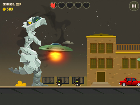Capturas de pantalla del juego Aliens drive me crazy para iPhone, iPad o iPod.