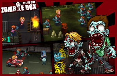 Écrans du jeu All-In-1 ZombieBox pour iPhone, iPad ou iPod.