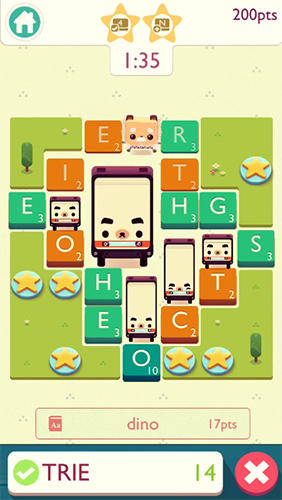 Screenshots do jogo Alphabear 2 para iPhone, iPad ou iPod.