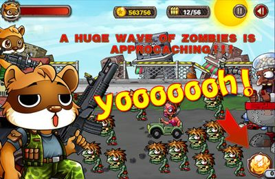 Écrans du jeu Amazing raccoon vs zombies pour iPhone, iPad ou iPod.