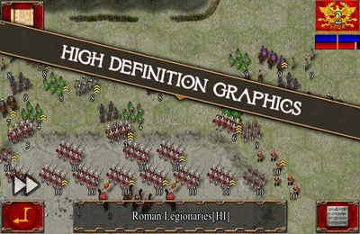Capturas de pantalla del juego Ancient Battle: Rome para iPhone, iPad o iPod.