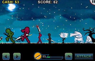 Screenshots of the AngerOfStick game for iPhone, iPad or iPod.