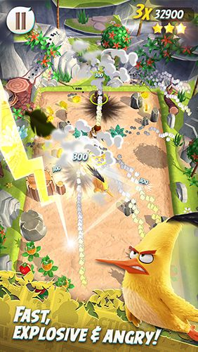 Screenshots vom Spiel Angry birds action! für iPhone, iPad oder iPod.