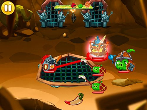 Capturas de pantalla del juego Angry birds: Epic para iPhone, iPad o iPod.
